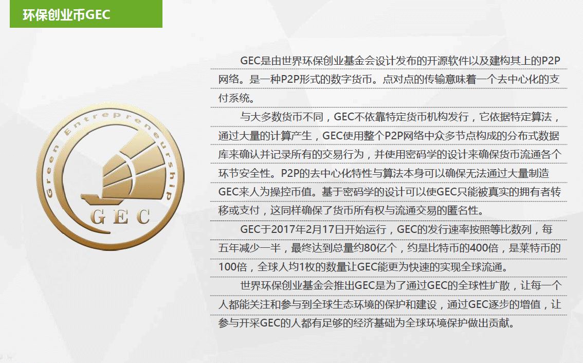 GEC|环保创业|环保创业币|世界环保创业基金会